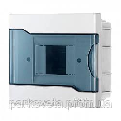 Бокс с прозрачной крышкой ЩРВ-П-4 для внутренней установки 4-х модульных устройств