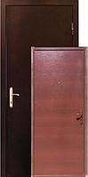 Двери ZIMEN Шагрень  Металл/ДСП   2 контурная темный орех