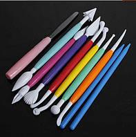 Набор инструментов для мастики 10 предметов 17 см
