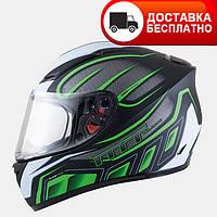 Мотошлем MT Blade SV Alpha Green с очками.
