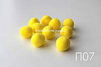 Помпоны желтые 20 мм (П07), фото 1