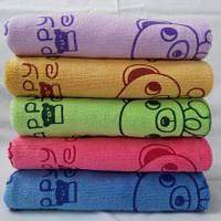 Качественные кухонные салфетки разных цветов с детским рисунком