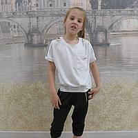Комплект-футболка+капри (белый), фото 1
