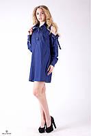 Джинсовое платье с длинным рукавом и открытыми плечами