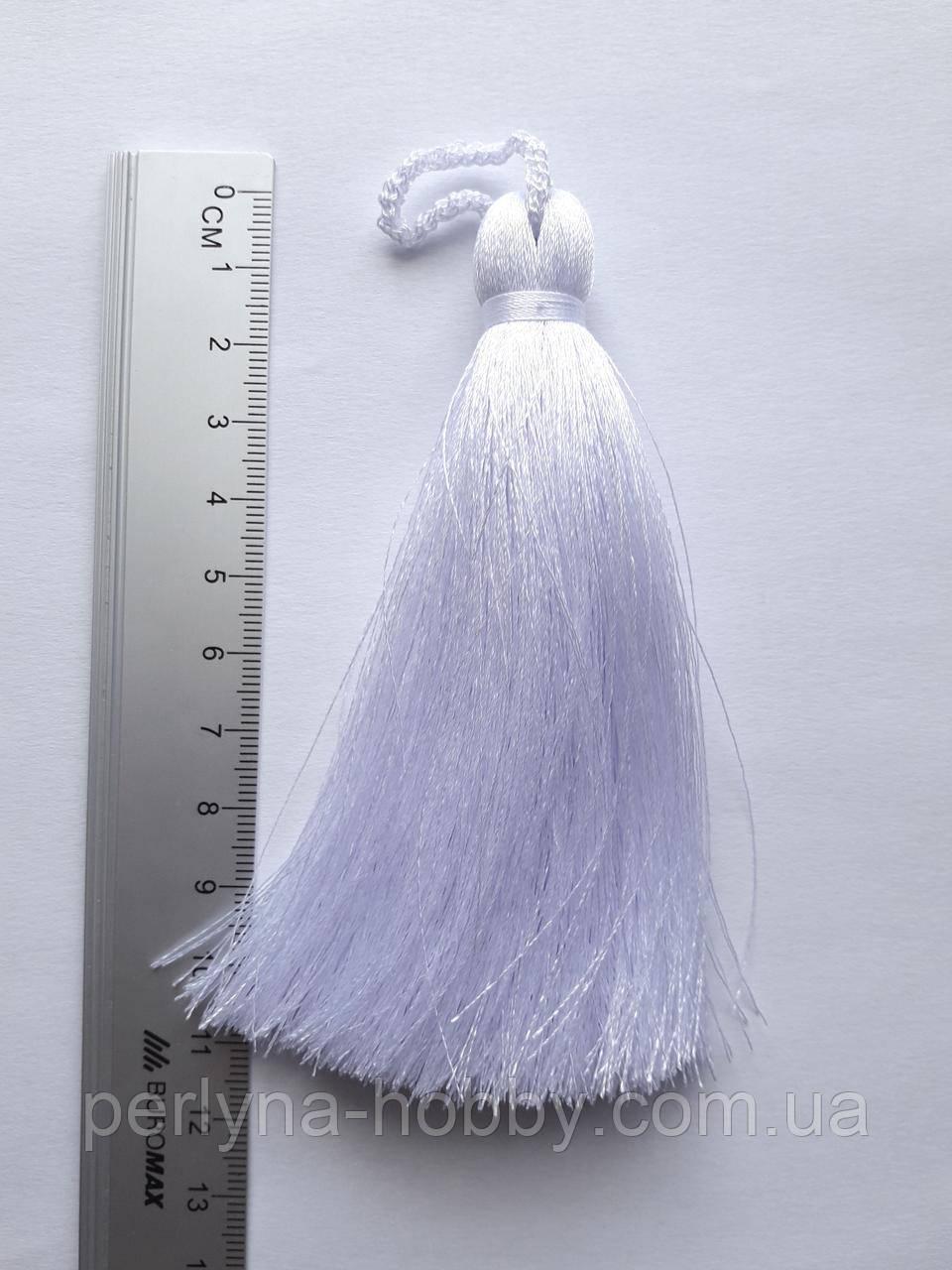 Кисти шелковые декоративные ( 1 шт ) Китиця декоративна велика 10-11 см,біла 0101,
