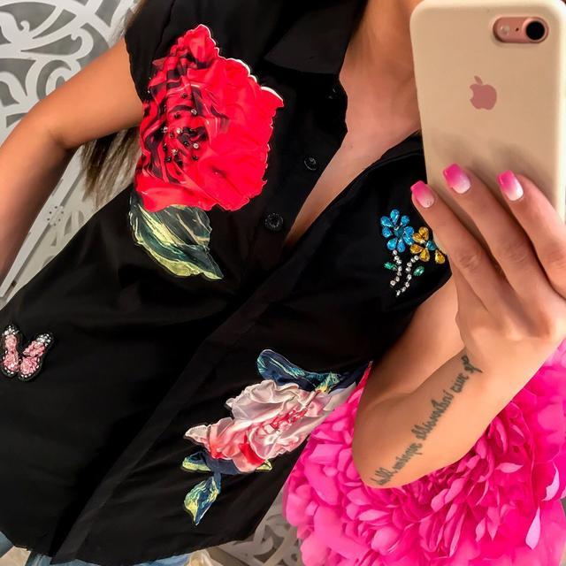 Женская коттоновая блузка