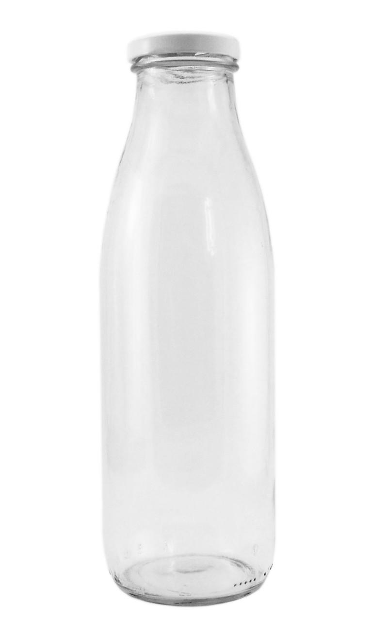Бутылка стеклянная для молока 0,82л.