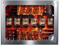 """Набор для шашлыка GE05-837Ш (6 стопок 50 мл+6 шампуров) рисунок """"Мускат""""."""