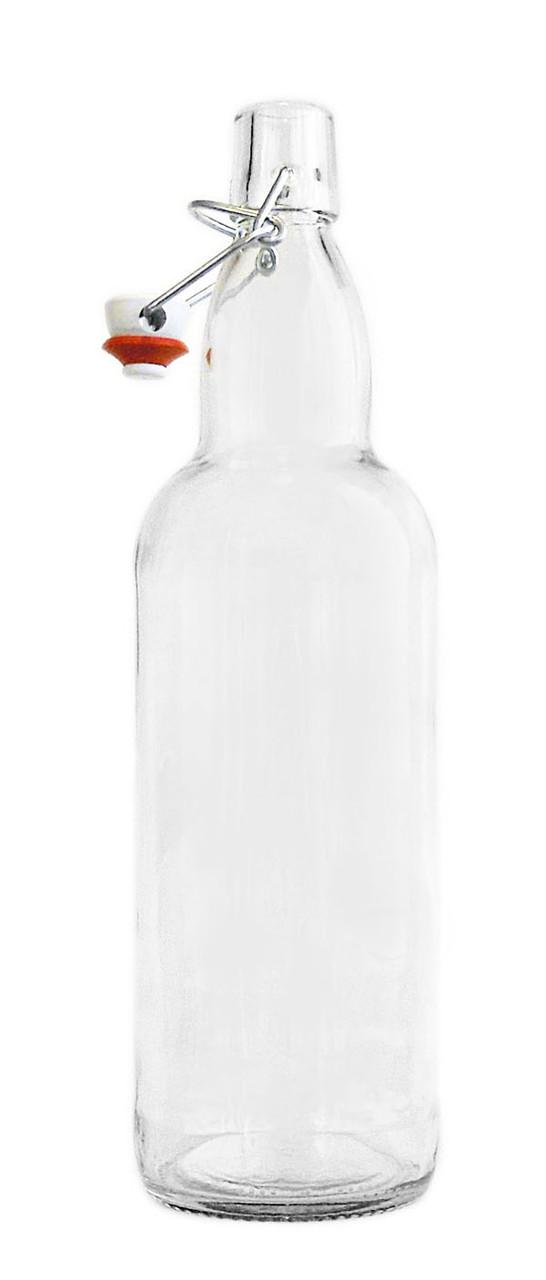 Бутылка Litva прозрачная 1л. бугельным замком.