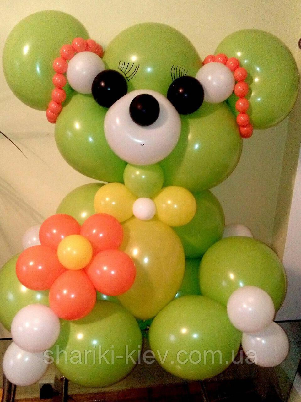 Большой Мишка Гвидо 1 из воздушных шариков на День рождения
