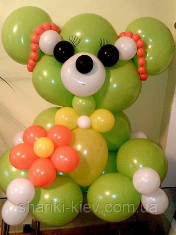 Большой Мишка Гвидо 1 из воздушных шариков на День рождения, фото 2