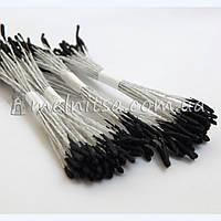 Тычинки для цветов тайские, черные на белой нитке