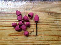 Песочные колпачки 10*15 мм 80  грит  11 шт конус + насадка для фрезера