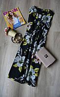 Новое цветочное шифоновое платье F&F а-силуэта