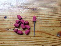 Песочные колпачки 7*13 мм 80 грит  11 шт конус + насадка для фрезера