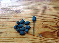 Песочные колпачки 7*13 мм 100 грит  11 шт конус + насадка для фрезера