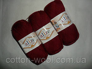 Alize Cotton Baby soft (Ализе Коттон Беби софт) 57 бордо