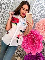 Женская рубашка с цветами