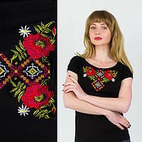 Современная вышитая женская футболка