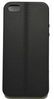 Черный силиконовый чехол под кожу со швом iphone 5/5S