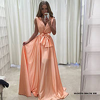 Вечернее женское платье Золото-Шелк ян