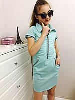 Платье с воротничком Размерный ряд: 134-164 бол.ростовка