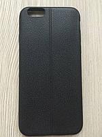 Черный силиконовый чехол под кожу со швом iphone 6/6S