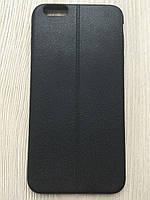 Черный силиконовый чехол под кожу со швом iphone 6+/6S+ 5.5дюйма