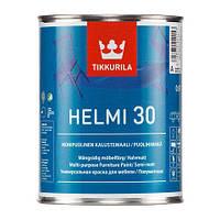 Акрилатная краска для мебели Tikkurila Хелми 30 0,9л База А
