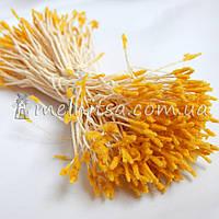 Тычинки для цветов бархатные, желтые