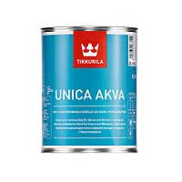 Полуглянцевая акрилатная краска Tikkurila Уника Аква - Unica Akva 0.9л База А