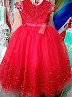 Нарядное красное платье на выпускной бал