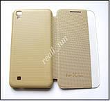 Золотой Quick Cover чехол книжка для LG X Power K220DS, фото 5