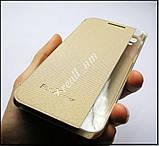 Золотой Quick Cover чехол книжка для LG X Power K220DS, фото 6