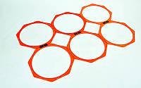 Тренировочная напольная сетка (соты 2шт) Agility Grid C-5676 (пластик, оранжевый)