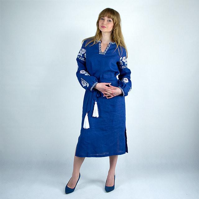 Вышитое платье современного дизайна - Оптово - розничный магазин одежды