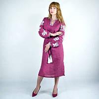 Необычное платье-вышиванка под пояс