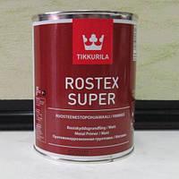 Tikkurila Rostex Super ,Ростекс Супер противокоррозионная грунтовка, База Красно-коричневый 1л