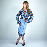 Праздничное платье вышито машинной вышивкой