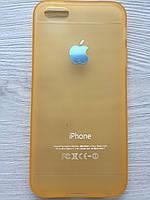 Cиликоновый золотой чехол Creative для iPhone 5/5S/5SE