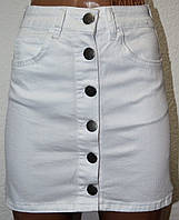 Юбки женские джинсовые Белая14059