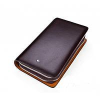 Кожаный кошелек Montblanc Wallet 11-7251C коричневый