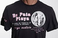 DE PUTA MADRE футболка женская  размер L   ПОГ 49 см  б/у