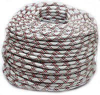 Веревка шнур 10 мм плетеная статичесткая промышленный альпинизм ТМ Крокус