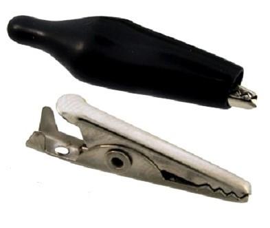 Зажим крокодил черный 45 мм крючок, зажим, клемник, клема, тестер, пробник, щуп, наконечник.