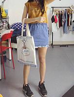 Юбка джинсовая женская на резинке (голубая)