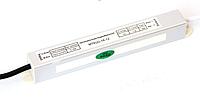 Блок питания 12V 1,5A 18Вт SLIM в герметичном корпусе для светодиодной ленты, линейки, модулей.