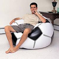"""Комфортное надувное кресло Intex """"football ball"""""""