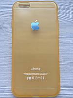 Cиликоновый золотой чехол Creative для iPhone 6/6S в упаковке
