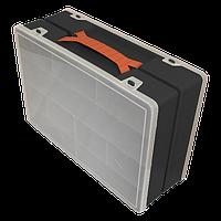 Органайзер пластиковый двойной 304х206х100 мм черный